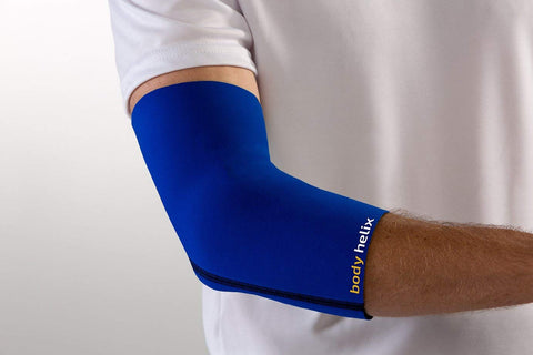 Body Helix Elbow Compression Sleeve - Full Elbow Compression  Treatment For Tennis Elbow, Golfers Elbow, And Forearm Pain; Small, Royal Blue