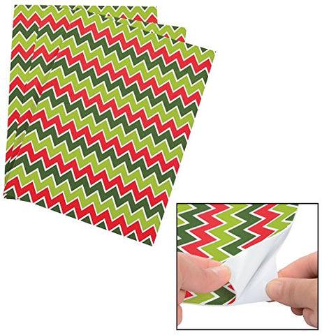 Christmas Chevron Adhesive Sheets  9  X 12 . Self-Adhesive Foam.