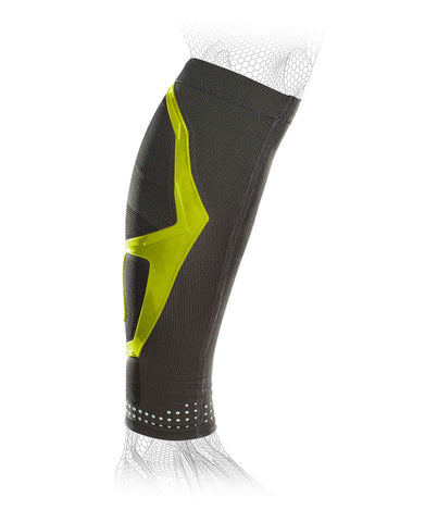 Donjoy Performance Trizone Compression: Calf Support Sleeve, Slime Green, Medium
