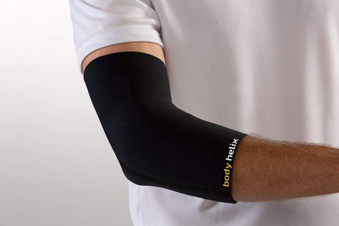 Body Helix Elbow Compression Sleeve - Full Elbow Compression  Treatment For Tennis Elbow, Golfers Elbow, And Forearm Pain; Medium, Black