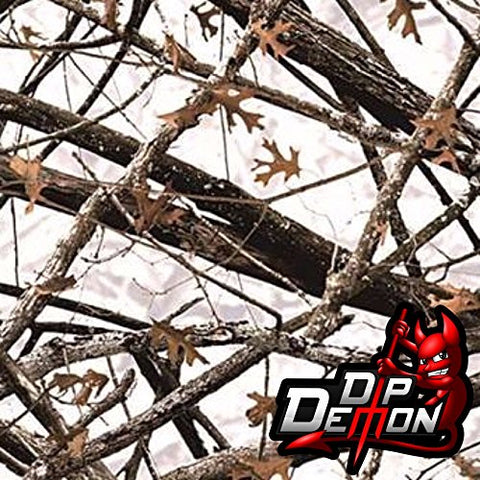 Winter Camo Lost Woods Camouflage Hydrographic Water Transfer Film Hydro Dipping Dip Demon