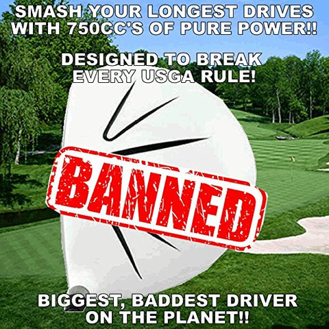 White Ghost Sooolong Illegal Non-Conforming High Cor 750Cc Huge Distance Banned Custom Golf Driver