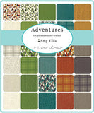 Adventures Charm Pack By Amy Ellis; 42 - 5  Precut Fabric Quilt Squares