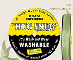 Moss Green 618 Hug Snug Seam Binding Ribbon - 1/2  - 100 Yards