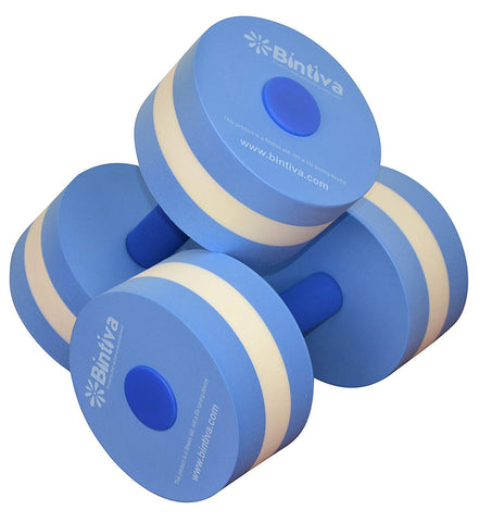 Aqua Dumbbell Set - Provides Resistance For Water Aerobics Fitness And Pool Exercises - 1 Pair - 3