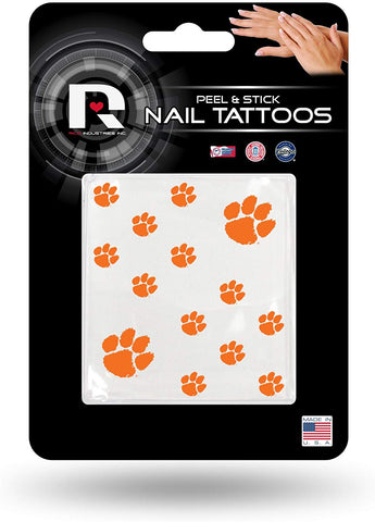 Ncaa Clemson Tigers Nail Tattoos, Set Of 12 Plus 2 Face Tattoos