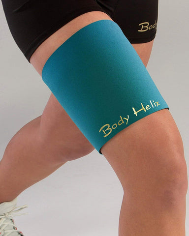 Body Helix Thigh Compression Sleeve/Wrap For Hamstrings And Quadriceps (Teal, Medium: Max Thigh Circumference Is 22 To 26)