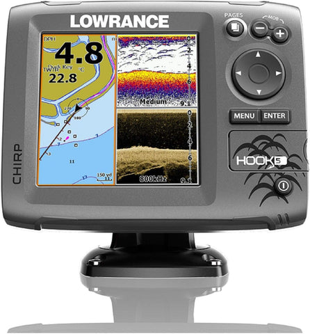 Lowrance 000-12656-002 Navico Hook 5 With Card & Cover Mid/High Down Scan