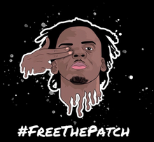 Load image into Gallery viewer, #FreeThePatch Black Hoodie