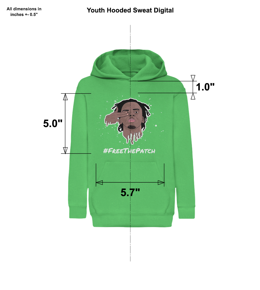 Kids and Junior #FreeThePatch Green Army Hoodie
