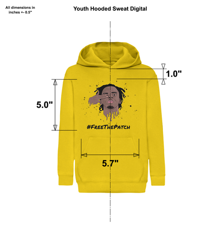 Kids & Junior #FreeThePatch Yellow Hoodie