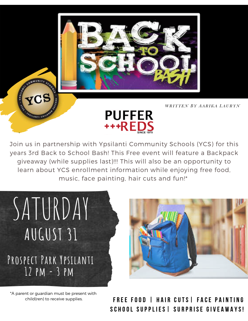 Ypsilanti Community School, Backpack, Back to School, Donation, Charity, Sneakers, Vans, Cult, Kangol, Reebok