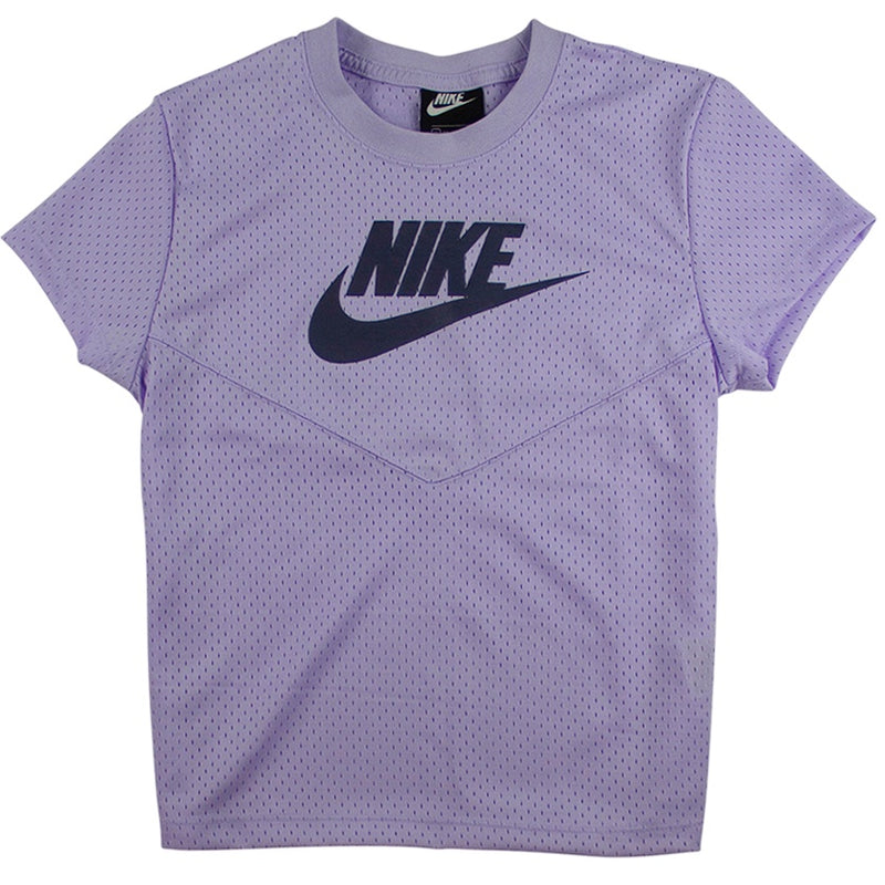 Nike Sportswear Women's Purple Mesh T-Shirt