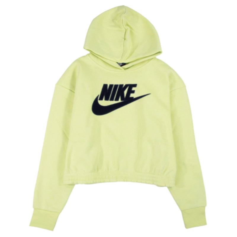 Nike Women's NSW Icon Clash Yellow Fleece Hoodie