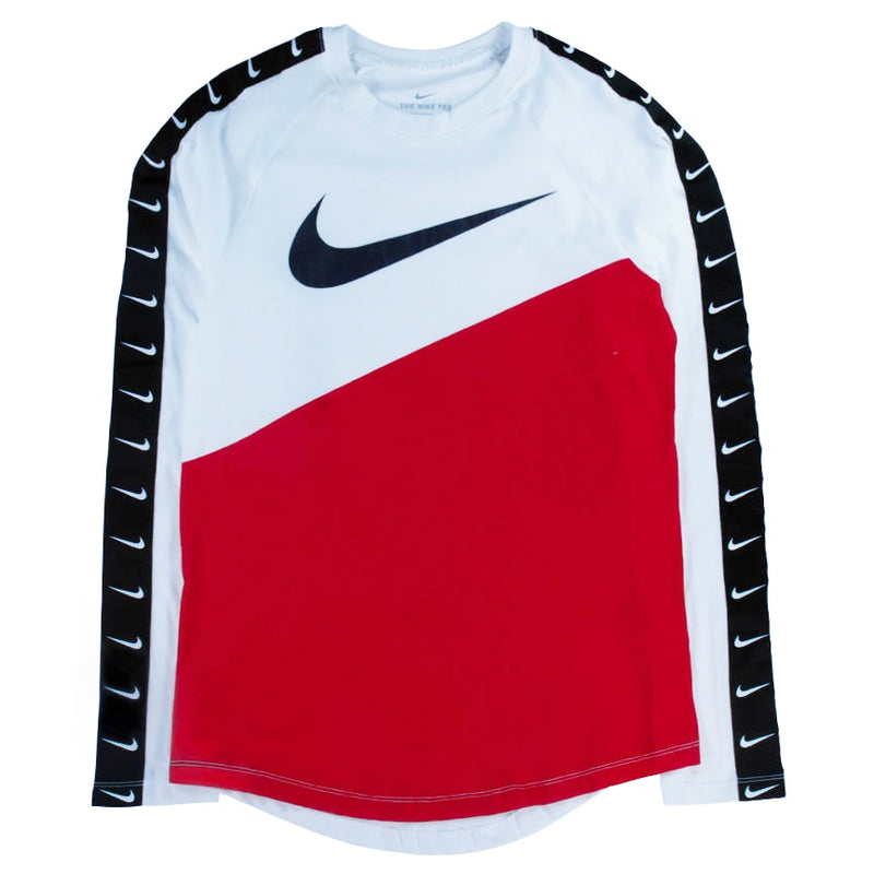 Nike Sportswear Swoosh Long-Sleeve Red T-Shirt