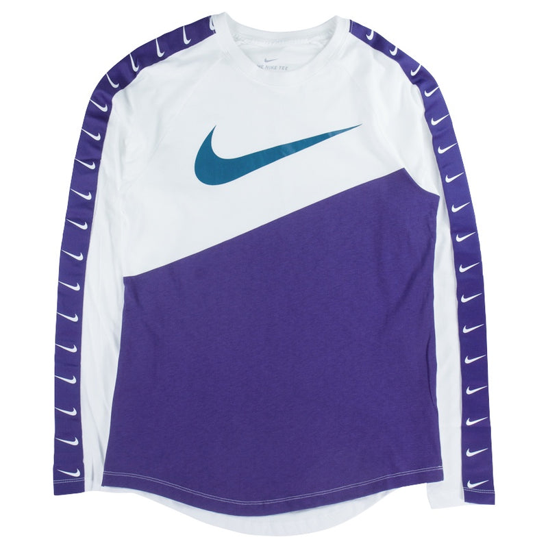 Nike Sportswear Swoosh Long-Sleeve Purple T-Shirt