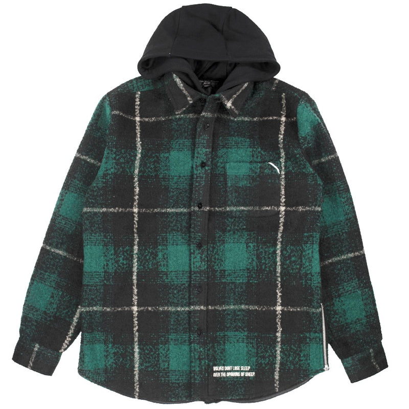 Cult Of Individuality Wool Plaid Shirt Jacket