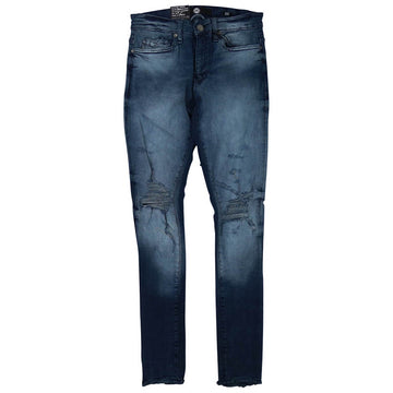 Jordan Craig Shredded Ross Midnight Blue Denim Jeans