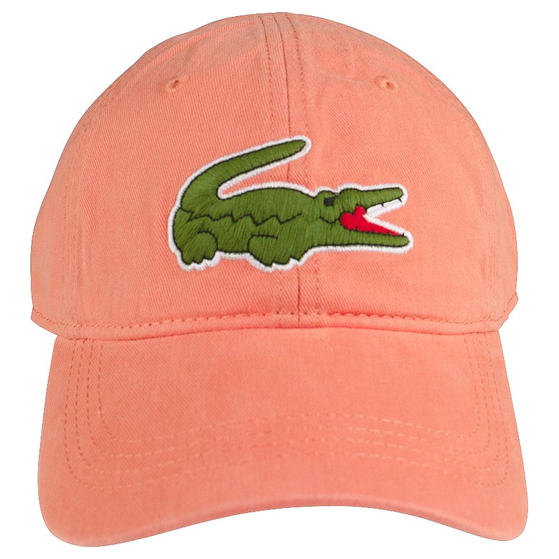 Lacoste Orange Big Croc Gabardine Cap