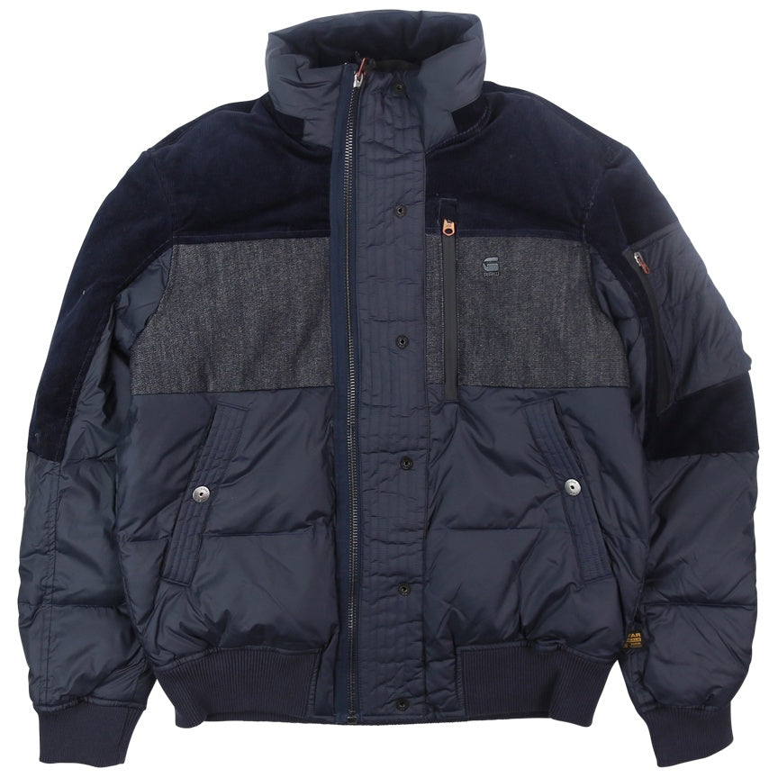 G-Star Raw Denim Mix Quilted Puffer Jacket
