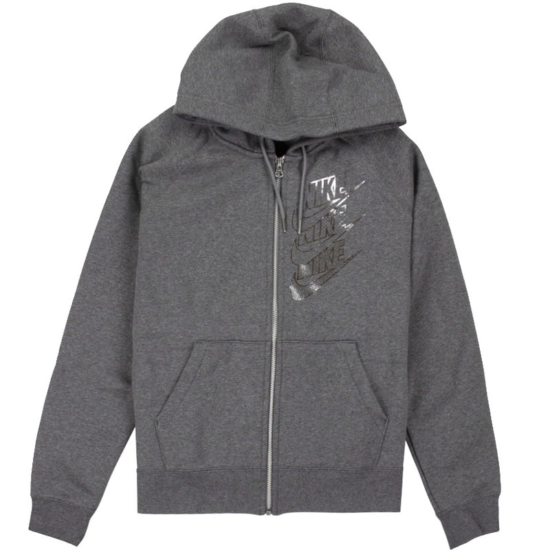 Nike Sportswear Women's Shine Full-Zip Grey Hoodie