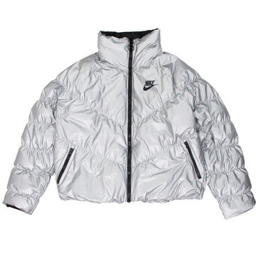 Nike Sportswear Women's Synthetic Fill Silver Jacket