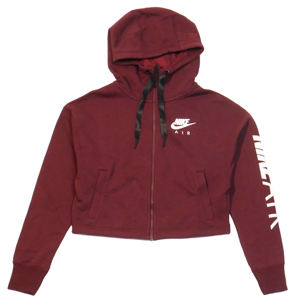 Nike Air Women's Full-Zip Maroon Hoodie