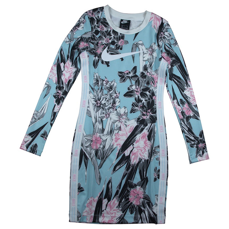 Nike Women's NSW Long-Sleeve Floral Dress