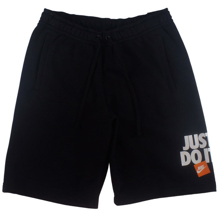 Nike Men's NSW Black 'Just Do It' Fleece Shorts