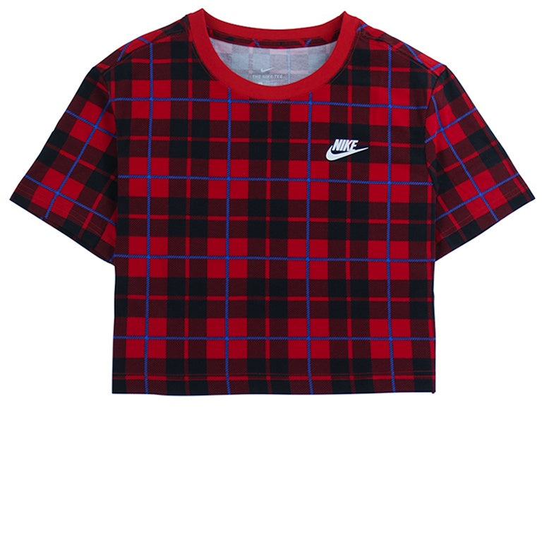 Nike Sportswear Women's Cropped Red T-Shirt