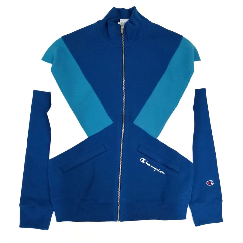 Champion Reverse Weave Blue Colorblock Track Jacket