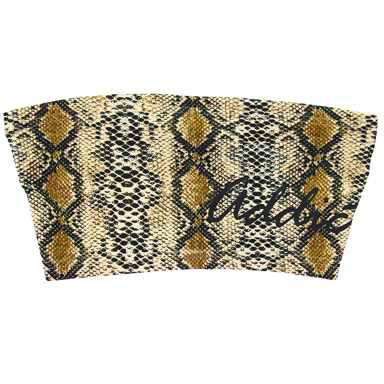 Addictive Bandeau Brown Snakeskin