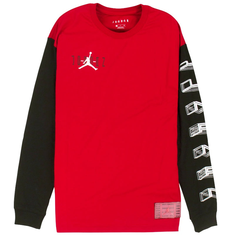 Air Jordan Legacy AJ11 Red Long-Sleeve T-Shirt