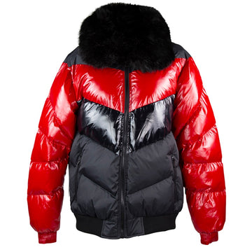 Jordan Craig Sugar Hill Nylon Red & Black Puffer Jacket