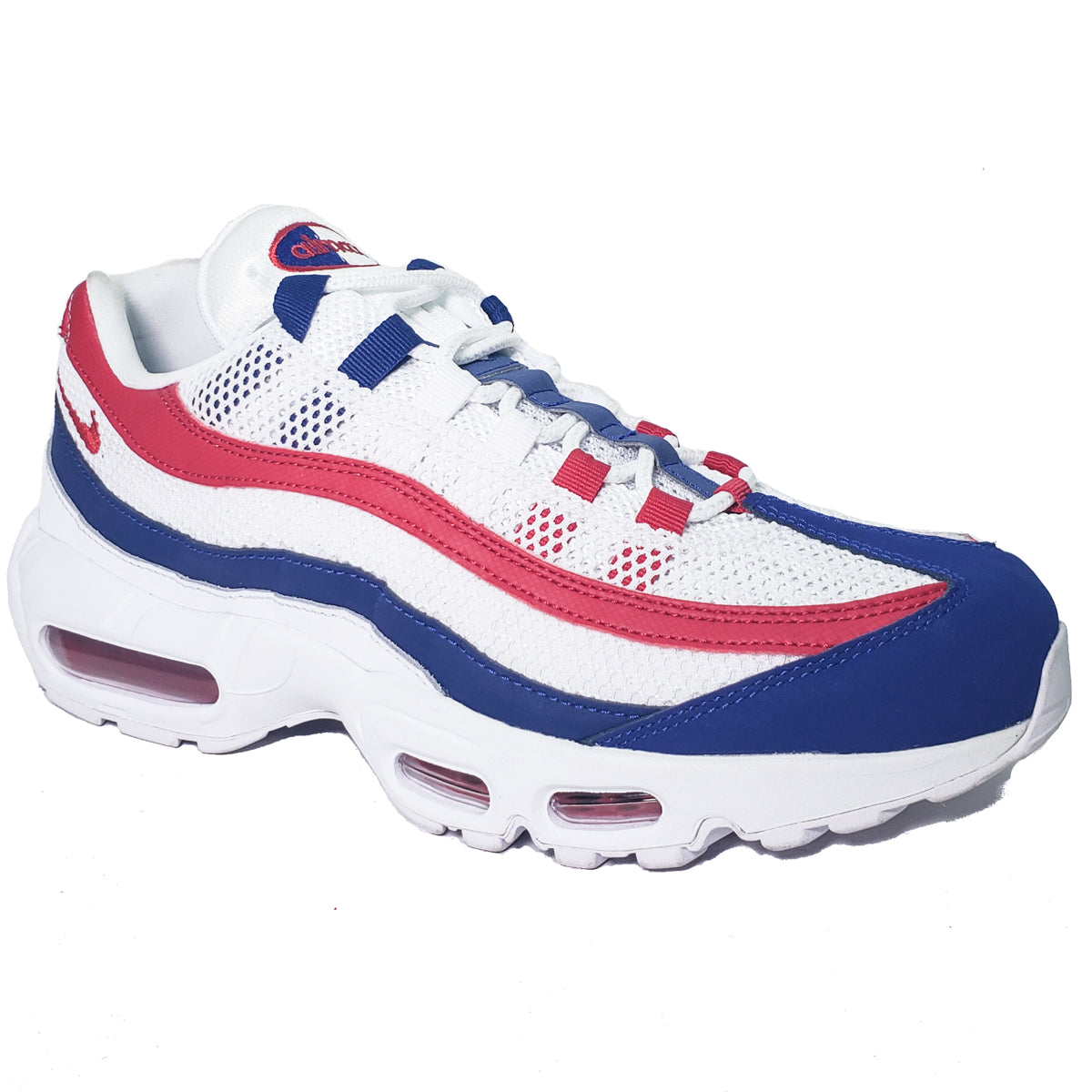meet a7b52 51a68 Nike Air Max 95 White/Red/Blue