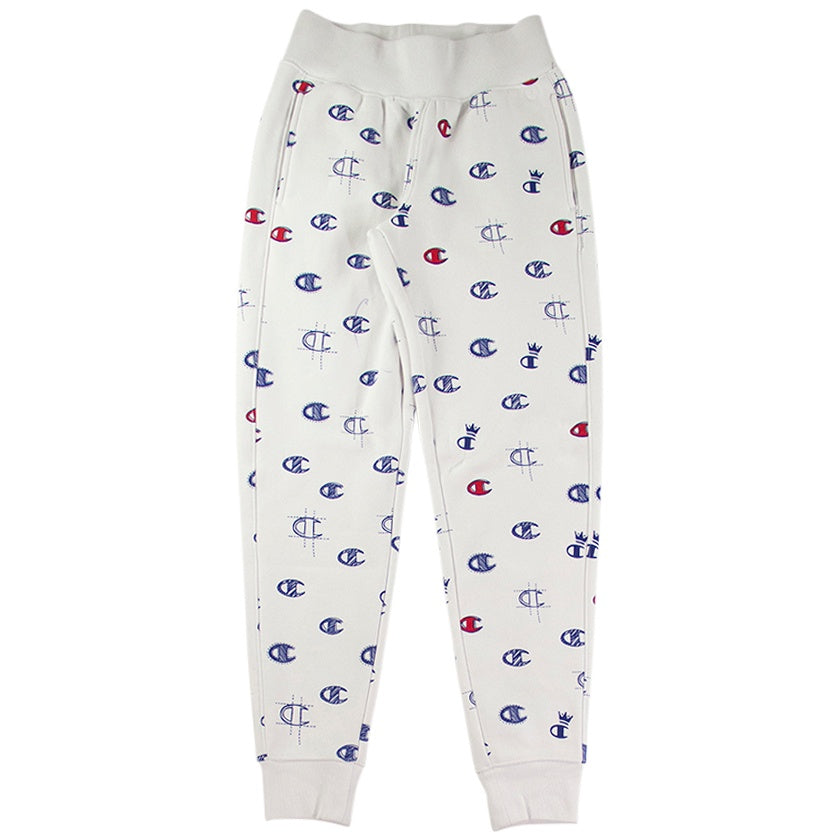 Champion Women's Reverse Weave White 'C's All Over' Jogger