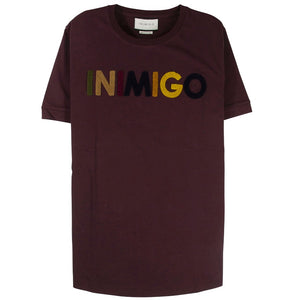 Inimigo Color Logo Maroon T-Shirt