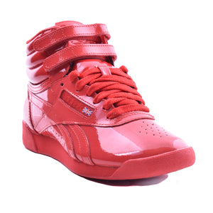 Reebok Freestyle Hi Red Patent Leather