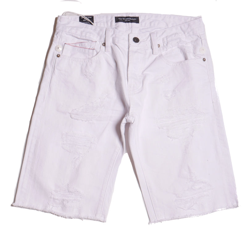 Cult Of Individuality Rebel White Shorts