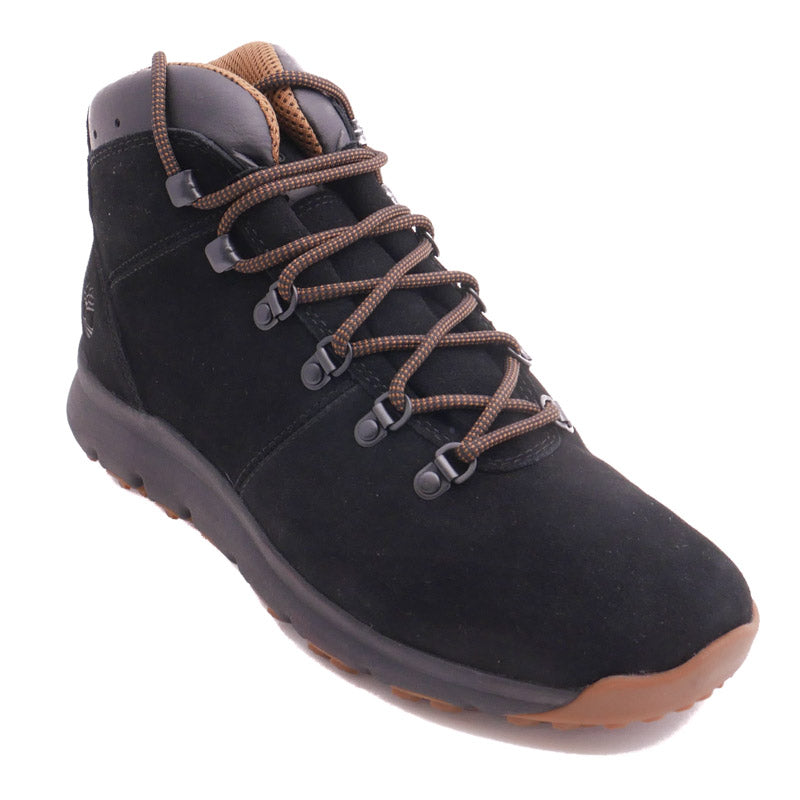 28c9c202193 Timberland Men's World Hiker Mid Boot Black Seude