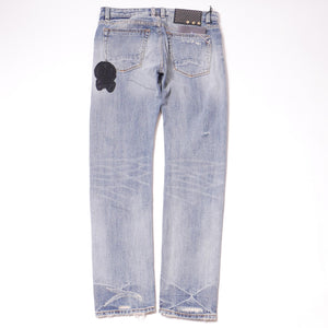 Cult Of Individuality Men's Cafe Racer Patches Straight Jeans