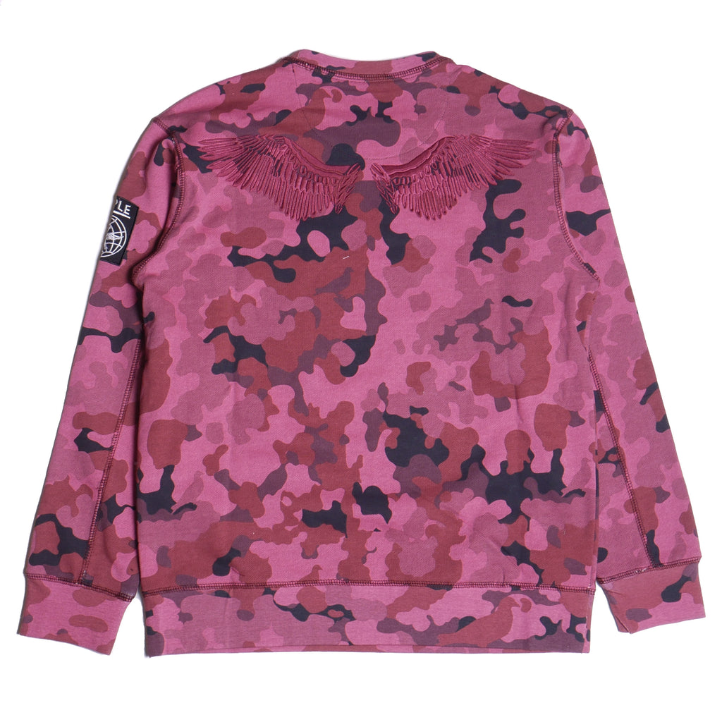Staple Burgundy Camo Crew
