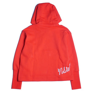 Nike Women's Loose Fit Red Pullover Hoodie