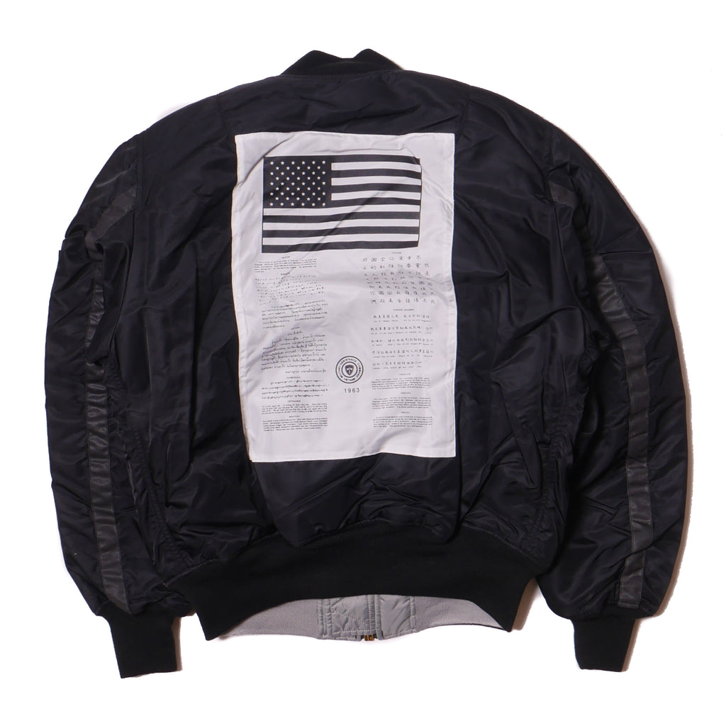 Alpha Industries MA-1 Blood Chit Transport Flight Jacket