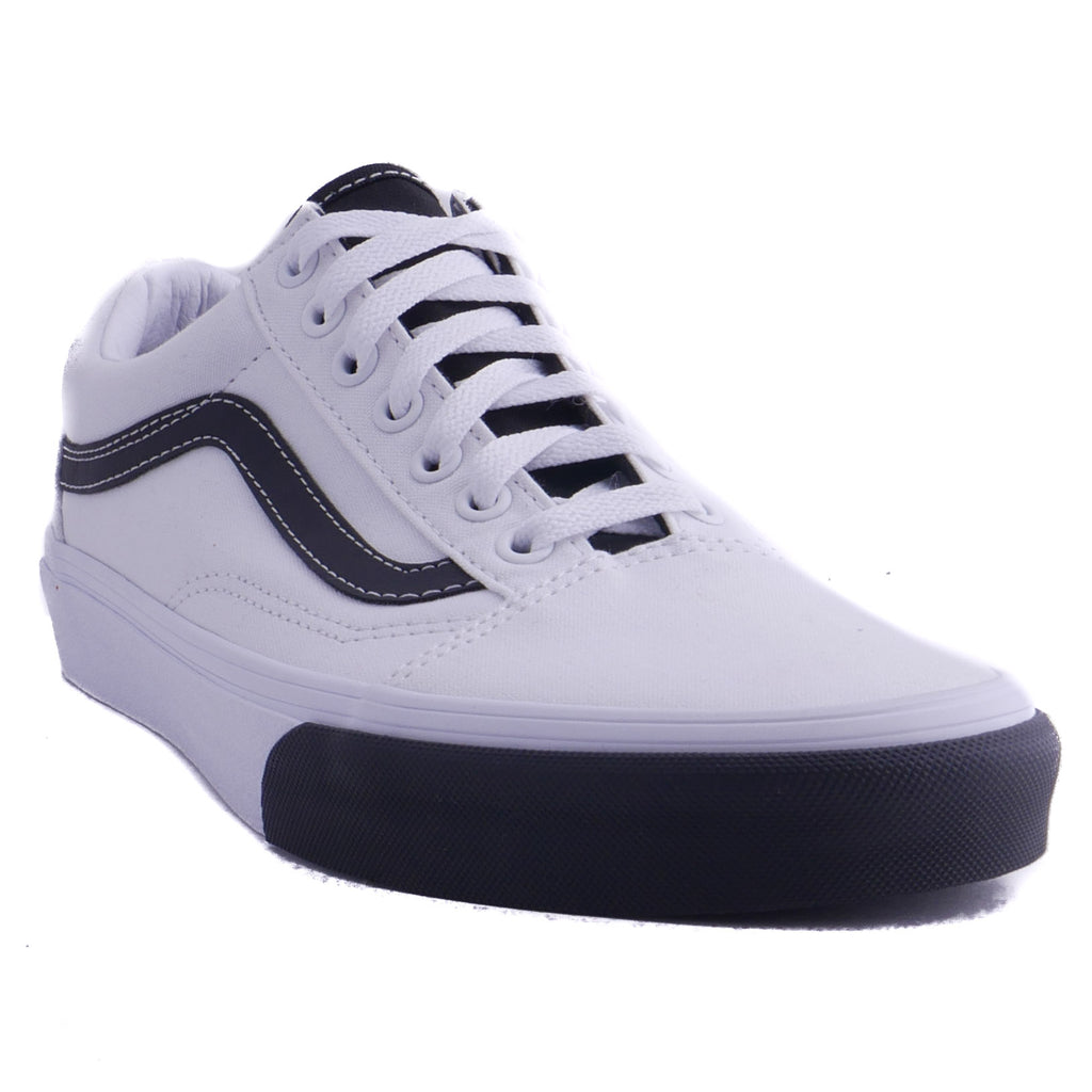Vans Old Skool True White (Black Color Block)