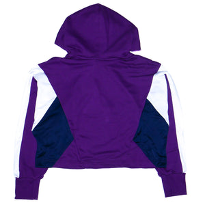 Adidas Womens 90s Cropped Purple Hoodie