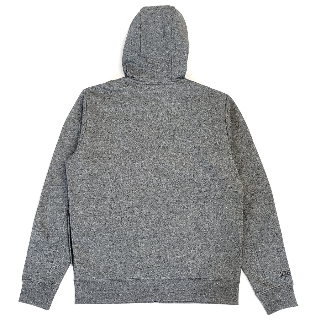 Lacoste Sport Grey Oversized Big Croc Full-Zip Hoodie