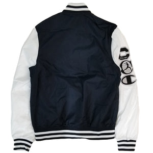 Champion Black Satin Baseball Jacket