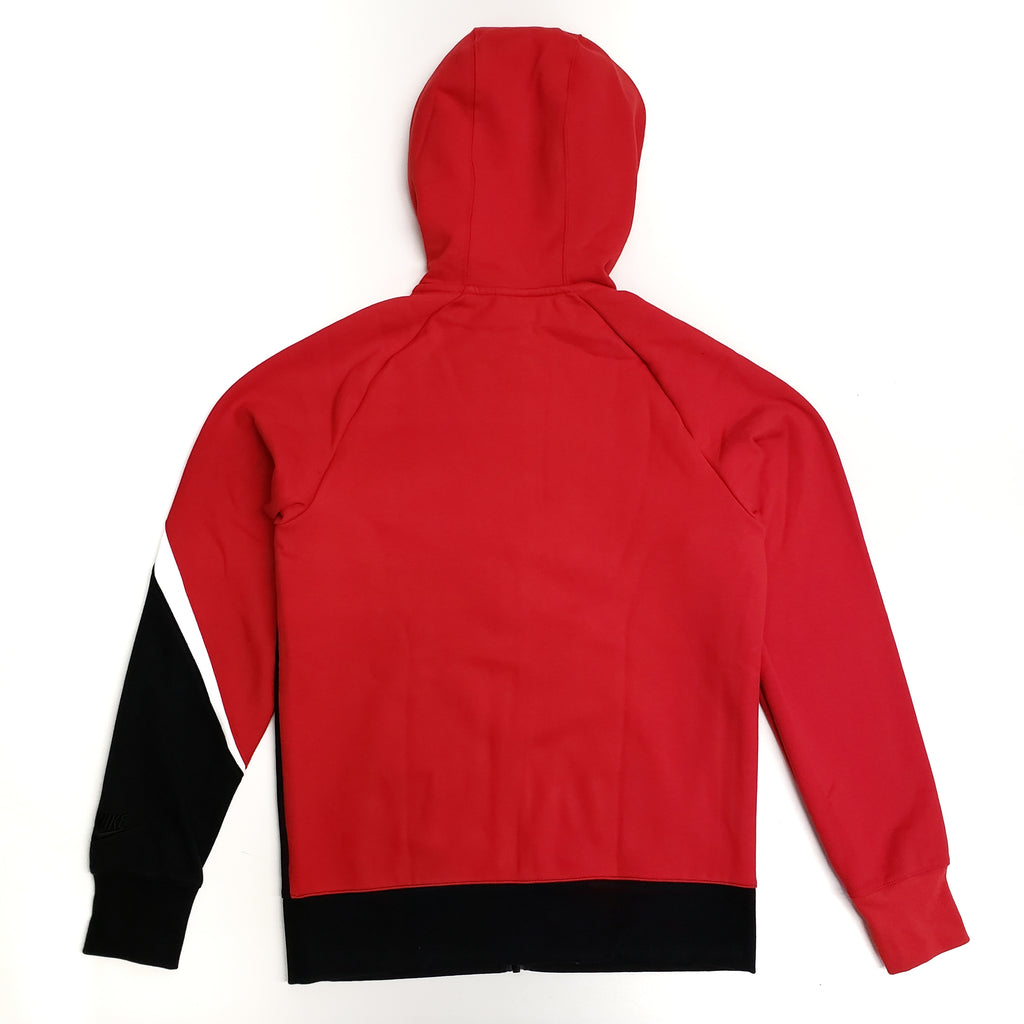 Nike Men's NSW Full-Zip Red/Black Swoosh Hoodie