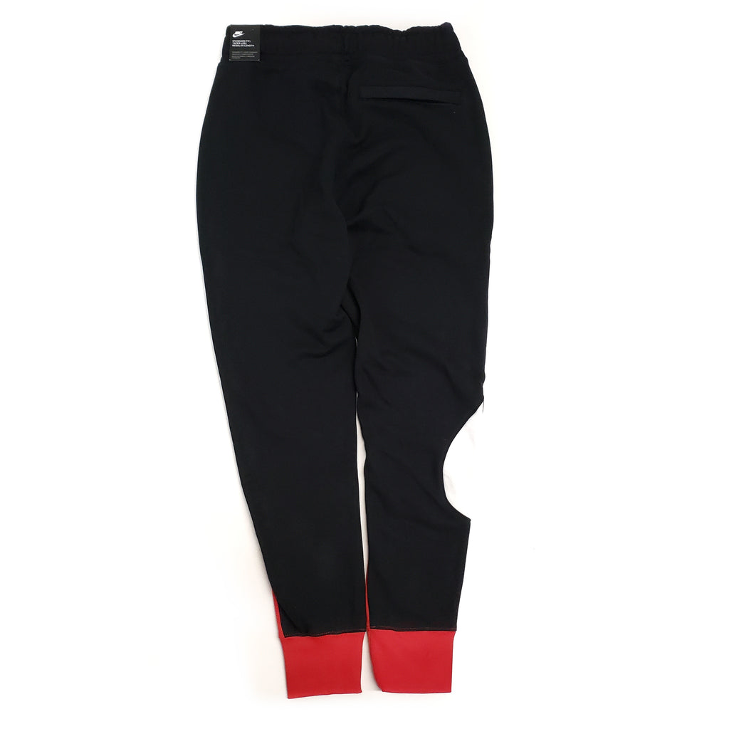 Nike Men's NSW Swoosh Red/Black Fleece Pant